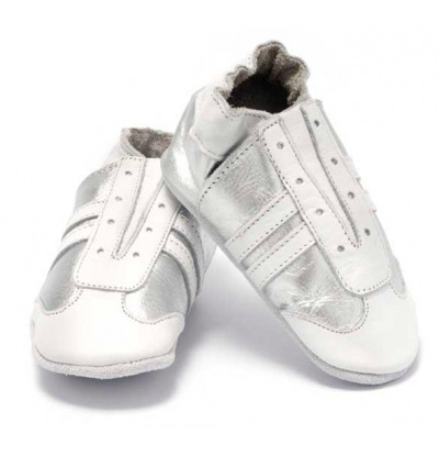 Baby Dutch Jogger zilver wit