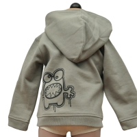 la queue du chat kaki hoodie
