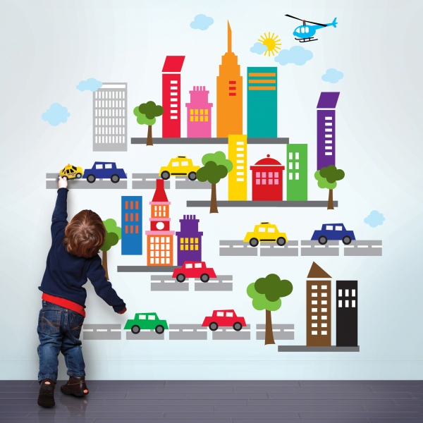 WallCandy Arts City Muurstickers  Babykamer muurstickers ...
